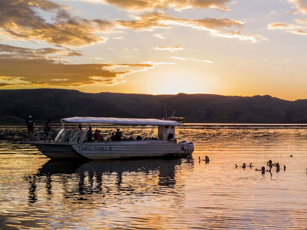 Bungles Scenic Lake Argyle Sunset Magic Cruise Tour | Explore the Kimberleys with Kingfisher Tours